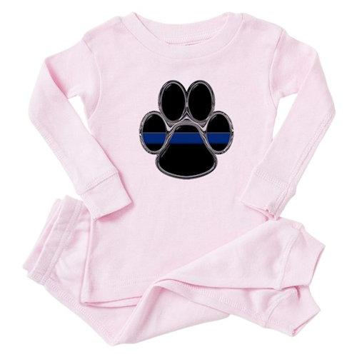 Thin Blue Line Baby Pajamas