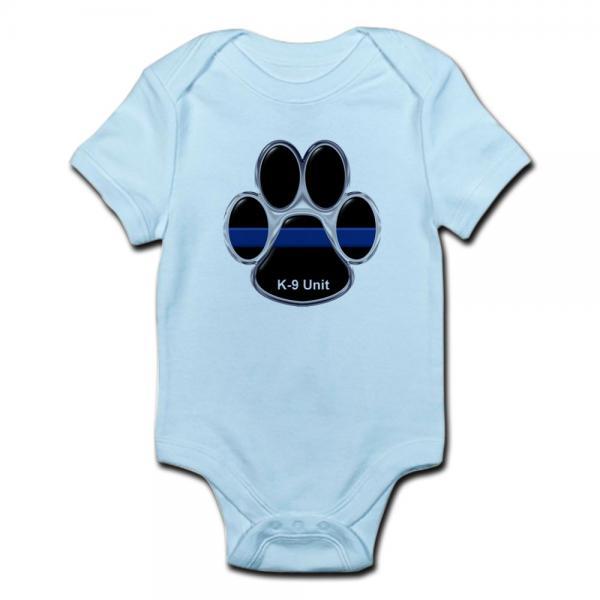 K-9 Unit Thin Blue Line Baby Light Bodysuit