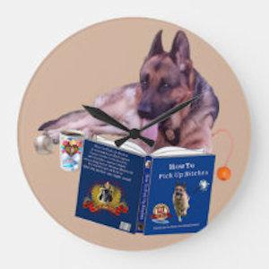 German Shepherd Round Wall Clock